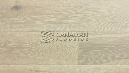 "Engineered White Oak <br>Origins, Wire-Brushed<br>6.0"" x 3/4""<br> Color:  Shoreline Grey"