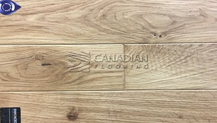 "Engineered White Oak<br> Superior Enhanced <br>7.0"" x 3/4""<br>Hand-Scraped Finish<br> Color: Natural"