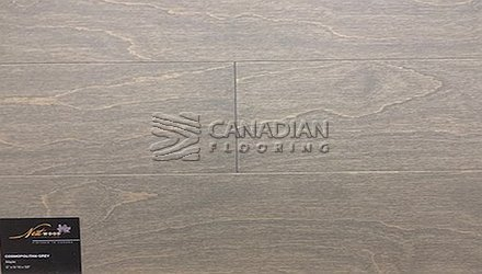 "Engineered Maple Flooring<br>Nestwood, 6.0"" x 9/16""<br>Brushed Finish<br>Color: Cosmopoplitan Grey Maple"