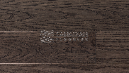 "Red Oak, Superior Flooring,  5-3/16"" x 3/4"", Brushed Finish, <br> Color:     Stone"
