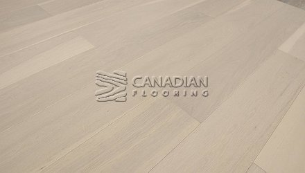 "Engineered White Oak <br>Grandeur, 6.5"" x 3/4""<br>Scandinavia Collection<br> Color: White Island"
