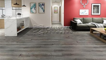 Luxury Vinyl Flooring, Biyork, Hydrogen 6 mm, Click, <br>Color:  Chop