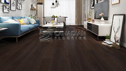 "Engineered Hickory, Biyork, 7-1/2"" x 3/4"" Color:    Havana Coffee Engineered flooring"