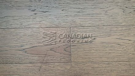"Engineered Hickory <br>Canfloor, 6.5"" x 3/4""<br>Wire-Brushed Finish<br>Color:  Modern Grey"