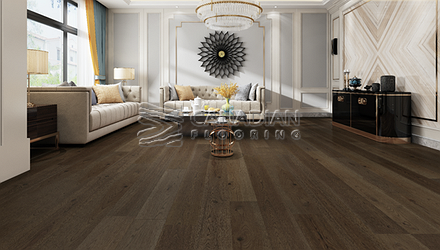 "Engineered Hickory, <br>Biyork, 7-1/2"" x 3/4""<br> Color:  Distant Prarie"