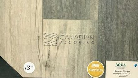Luxury Vinyl Flooring, Aqua Plus, NAF, 7.0 mm, Color: Yonge Vinyl flooring