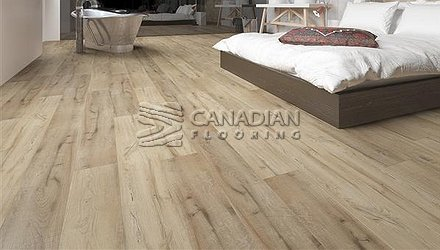 Luxury Vinyl Flooring, Biyork, Hydrogen 6 mm, Click, <br>Color:  Raw