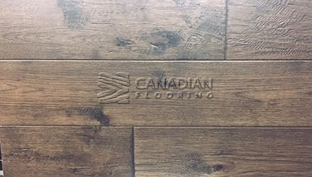 "Engineered Hickory <br> Brand Surfaces <br> 6-1/2"" x 3/4"", <br> Color:  Smoky Shadow"