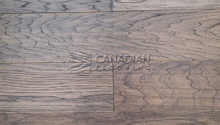 "Engineered Hickory Canfloor, 6.5"" x 3/4""Hand-Scraped & DistressedColor:  Grey Stone ENGINEERED FLOORING"