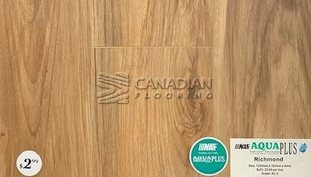 Luxury Vinyl Flooring, Aqua Plus, NAF, 4.0 mm, <br>Color:  Richmond