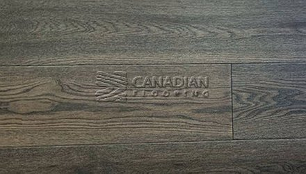 "Engineered White Oak Canfloor, Hand-Scraped6.5"" x 3/4""Color:  Black Pepper ENGINEERED FLOORING"