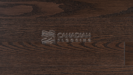 "Red Oak, Superior Flooring,  5-3/16"" x 3/4"", Brushed Finish, <br> Color:   Umber"