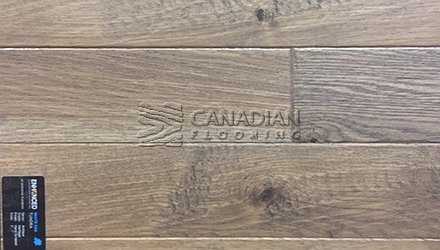 "Engineered White Oak<br> Superior Enhanced <br>5.0"" x 3/4""<br> Hand-Scraped Finish<br>Color: Tundra"