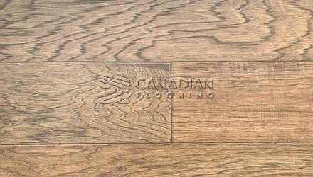"Engineered Hickory <br>Canfloor, 6.5"" x 3/4""<br>Hand-Scraped & Distressed<br>Color:  Bronze"