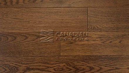 "White Oak, Canfloor, Hand-Scraped, 6-1/3"" x 3/4"" Color:  Hazelnut Engineered flooring"