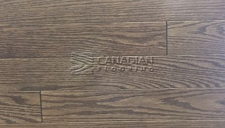 "Red Oak Husky, 5.0"" x 3/4"", Select & Better Color: Black Pepper Engineered flooring"