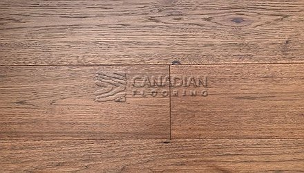 "Engineered Hickory <br>Canfloor, 6.5"" x 3/4""<br>Wire-Brushed Finish<br>Color:  Chestnut"