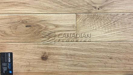 "Engineered White Oak<br> Superior Enhanced <br>5.0"" x 3/4""<br>Hand-Scraped Finish<br> Color: Natural"