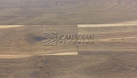 "Engineered White Oak, <br>Brand Surfaces, <br> 6-1/2"" x 3/4"",  <br> Color:  Pure Smoked"