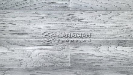 "Engineered Hickory <br>Canfloor, 6.5"" x 3/4""<br>Hand-Scraped & Distressed<br>Color:  Pewter"