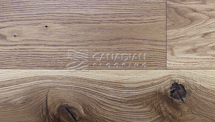"Engineered White Oak<br> Superior Enhanced <br>5.0"" x 3/4""<br>Wire-Brushed Finish<br> Color: Natural"