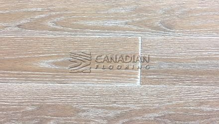 "Engineered, Red Oak<br> Husky Flooring<br> International Collection<br> 5-0"" x 5/8"", Brushed<br> Color:  Monaco"