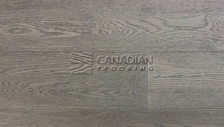 "Engineered White Oak <br>Origins, Wire-Brushed<br>6.0"" x 3/4""<br> Color:  Puro Grey"