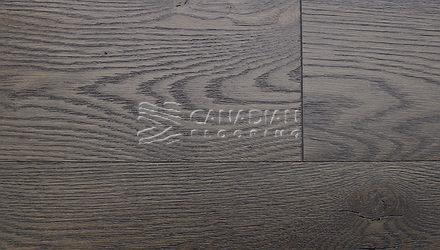 "Engineered White Oak<br> Superior Enhanced <br>5.0"" x 3/4""<br>Wire-Brushed Finish<br> Color: Impuls"