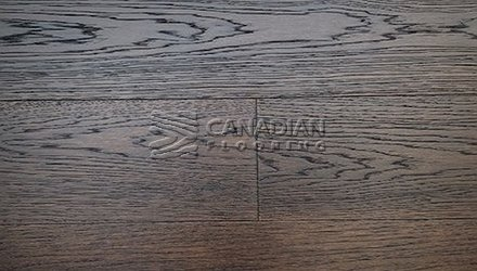"Engineered Hickory <br>Canfloor, 6.5"" x 3/4""<br>Wire-Brushed Finish<br>Color:  Darkhouse"
