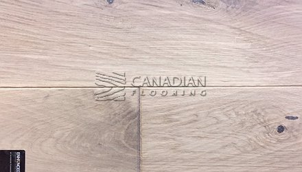 "Engineered White Oak<br> Superior Enhanced <br>7.0"" x 3/4""<br> Hand-Scraped Finish<br>Color: Yukon White"