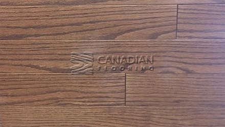 "Solid Red Oak<br> Husky Flooring<br>4-1/4"", Prestige<br>Color:  Brule"