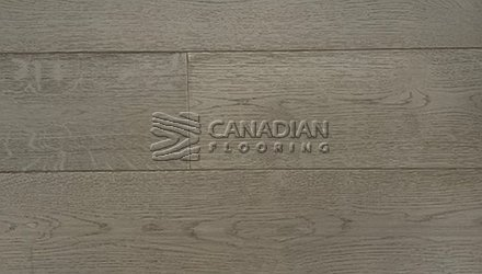 "White Oak, Canfloor, Hand-Scraped, 6-1/3"" x 3/4""<br> Color:  Smoke Grey"