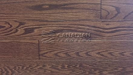 "Solid Red Oak<br> Husky Flooring<br>4-1/4"", Prestige<br>Color:  Walnut"