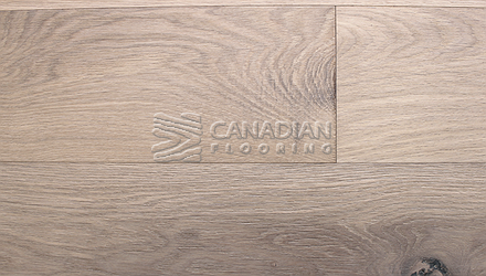 "Engineered White Oak<br> Superior Enhanced <br>5.0"" x 3/4""<br>Wire-Brushed Finish<br> Color: Yukon White"
