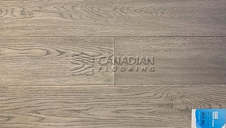 "Engineered White Oak <br>Canfloor, Hand-Scraped<br>6.5"" x 3/4""<br>Color:  Crest Grey"