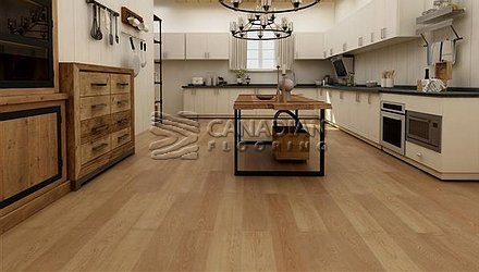 Luxury Vinyl Flooring, Biyork, Hydrogen 6 mm, Click, <br>Color:  Creamy Beige