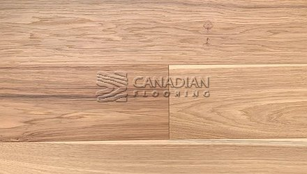 "Engineered Hickory <br>Canfloor, 6.5"" x 3/4""<br>Wire-Brushed Finish<br>Color:  Natural"