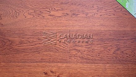 "Engineered Oak Flooring<br> Green Touch 7.5"" x 9/16"" <br> Color: Umber"
