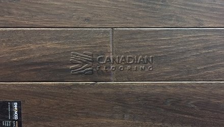 "Engineered Hickory Superior Enhanced 7.0"" x 3/4""Hand-Scraped Finish Color: Kahlua ENGINEERED FLOORING"