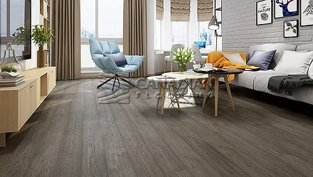 "Engineered Hickory, Biyork, 6-1/2"" x 3/4"" Color:  Silver Fox Engineered flooring"