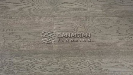 "White Oak, Canfloor, Hand-Scraped, 6-1/3"" x 3/4""<br> Color:  Crest Grey"