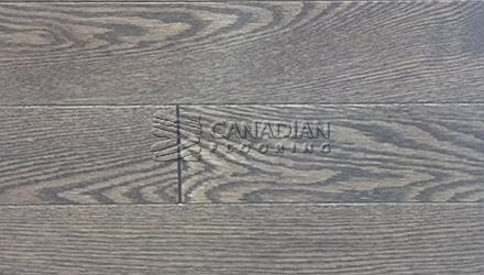 "Engineered Red Oak Husky, 5-0"" x 5/8"" (4.0 mm)  Color: Iron ENGINEERED FLOORING"