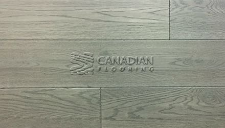 "Engineered White Oak, <br>Brand Surfaces, <br> 6-1/2"" x 3/4"",  <br> Color: Ashphalt Grey"