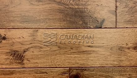 "Engineered Hickory <br> Brand Surfaces<br> 6-1/2"" x 3/4"" <br> Color:  Crafted Timber"