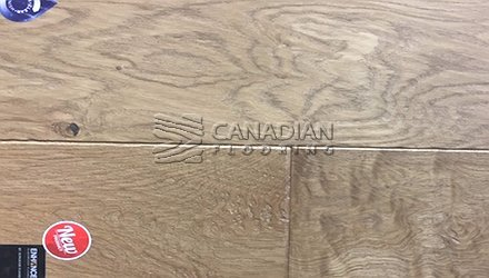 "Engineered White Oak<br> Superior Enhanced <br>7.0"" x 3/4""<br> Hand-Scraped Finish<br>Color: Sandstone"