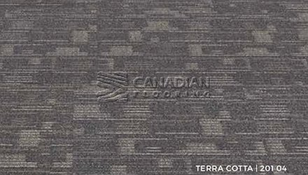 Carpet Tile Flooring  Inglewood 201 Series<br>Color: Terra Cotta