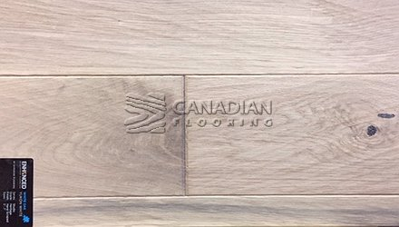 "Engineered White Oak<br> Superior Enhanced <br>5.0"" x 3/4""<br>Hand-Scraped Finish<br> Color: Yukon White"