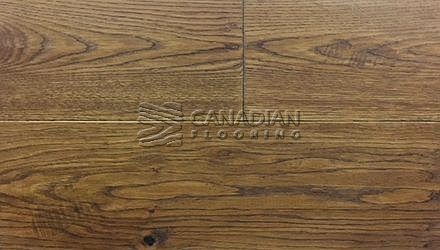 "Fuzion Euro Oak, <br>Coastline Collection<br>7.5"" x 1/2"", <br>Color:  Manduria Sunset"