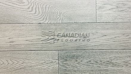 "Engineered White Oak, <br>Brand Surfaces, <br> 6-1/2"" x 3/4"",  <br> Color: Grind Concrete"