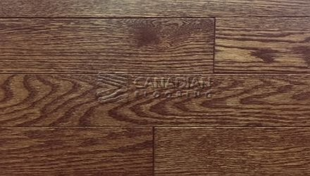 "Solid Red Oak,  Panache, Wire-Brushed Finish  3-1/4"",   4-1/4"" Color:  Coffee Hardwood flooring"